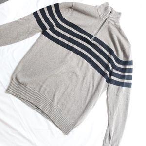 GAP Men's Quarter Zip Sweater Black Gray